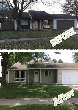 Remodeling Houses Bloomington - before and after