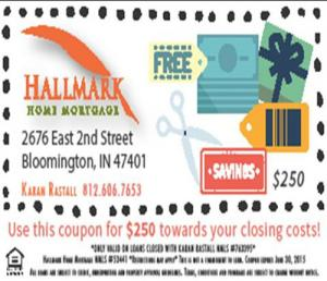 Bloomington Real Estate - Hallmark Coupon